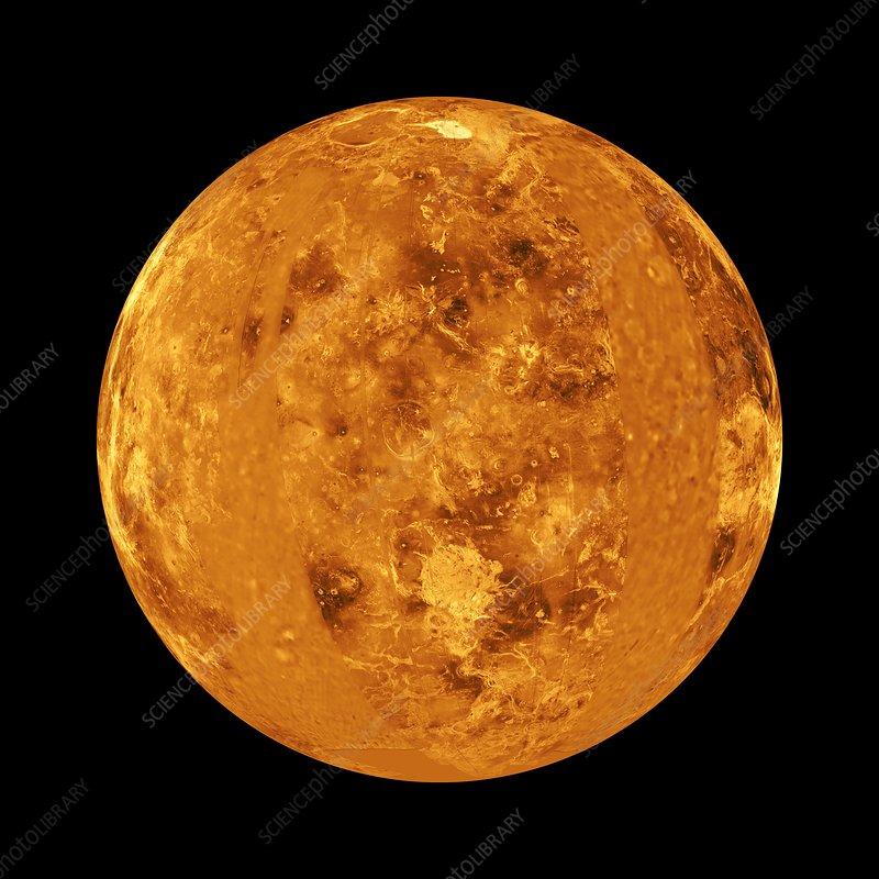 Venus, synthetic aperture radar map