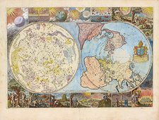 Northern hemisphere map, 1699