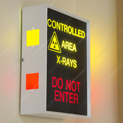 X-ray room warning box