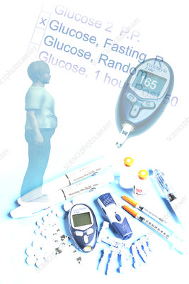 Obesity and Diabetes, illustration