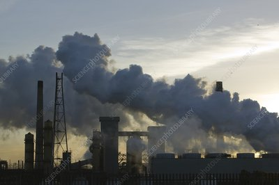 Emissions from the Corus steelworks, UK