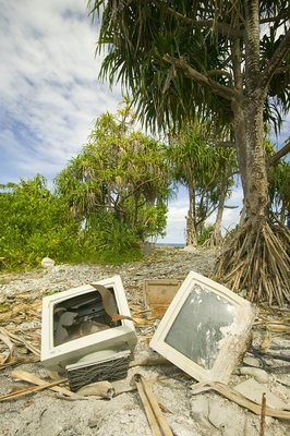 Computer parts discarded on Tuvalu