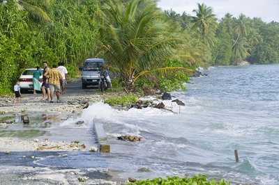 Tuvalu high tide