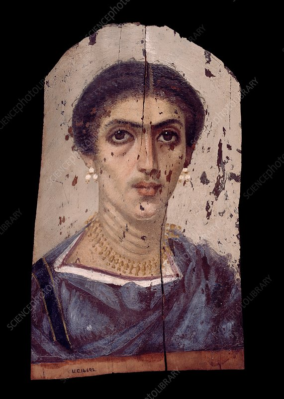Fayum mummy portrait, Roman Egypt