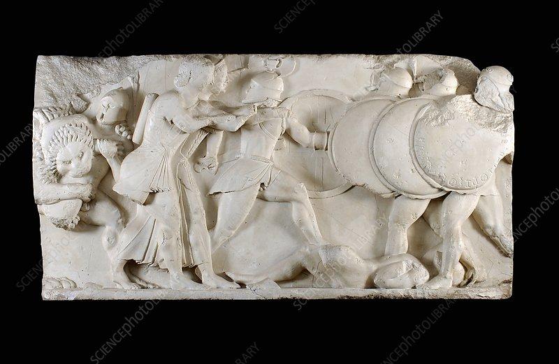 Siphnian Treasury frieze, 6th century BC