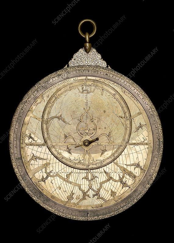 Brass Astrolabe, Egyptian, 1227-28
