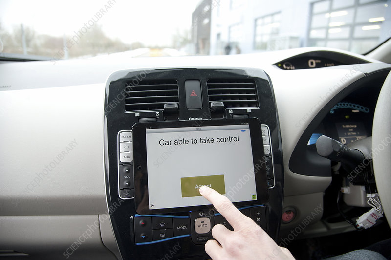 Tablet interface of the RobotCar