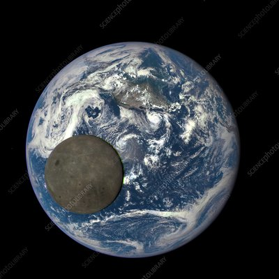 Dark side of the Moon, satellite image