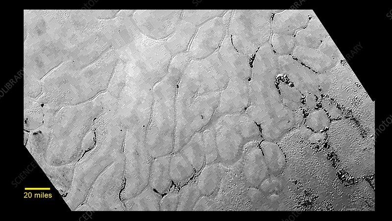 Pluto's surface, New Horizons image