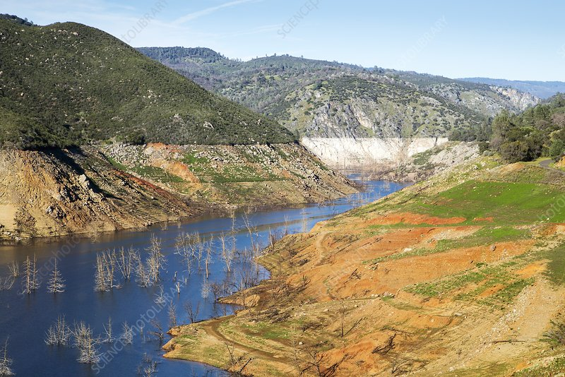 New Melones Lake drought, 2015