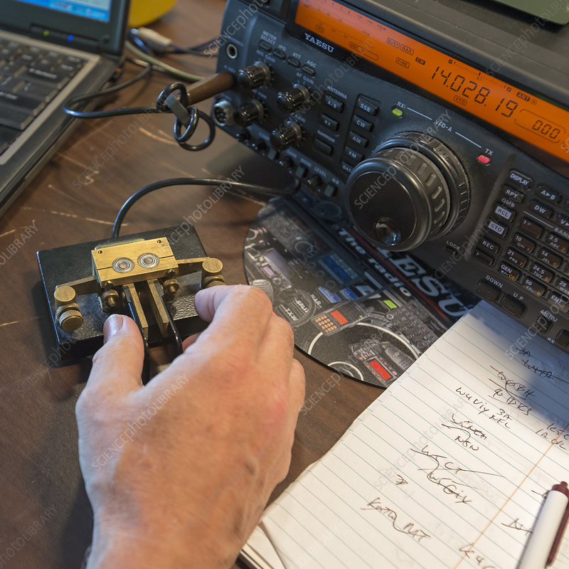 Morse code radio message
