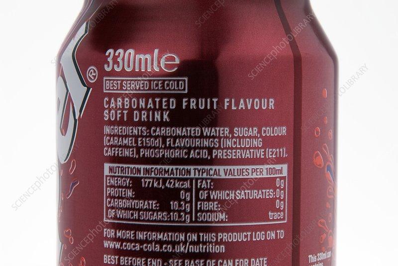 Fizzy drink ingredients