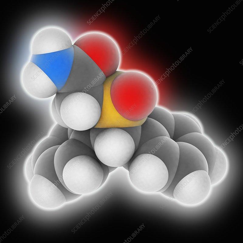 Modafinil drug molecule