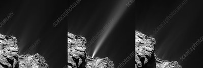 Outburst from Comet Churyumov-Gerasimenko