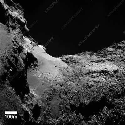 Neck of Comet Churyumov-Gerasimenko