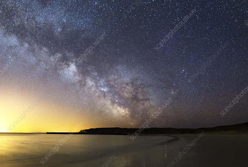Milky Way over the coast