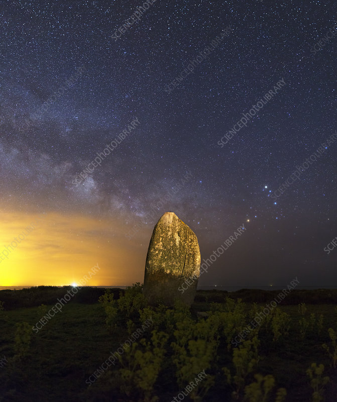 Milky Way over standing stone