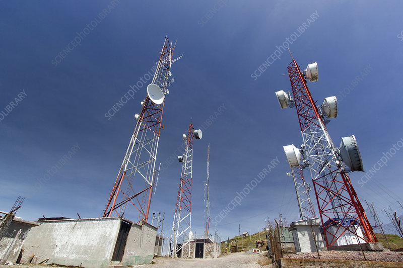 Communications towers, South America