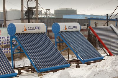 Solar thermal panels, China