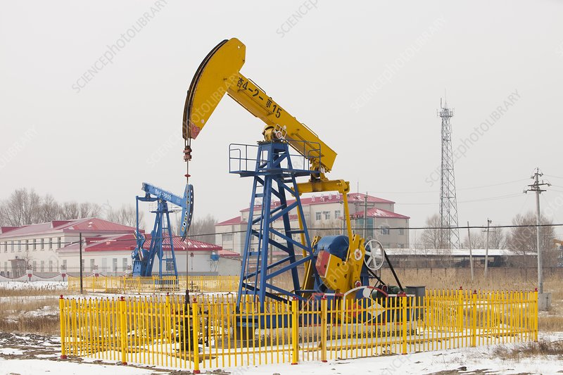 Oil field in Daqing, China