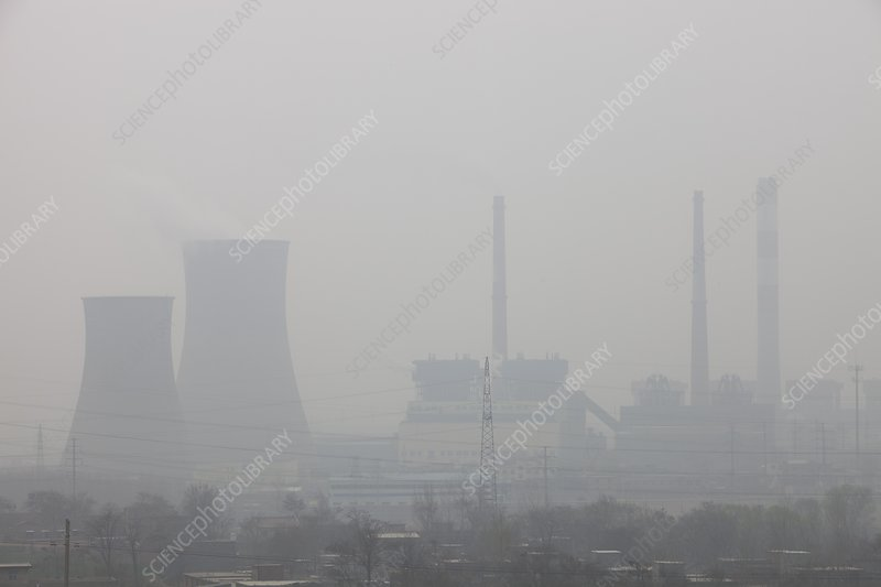 Air pollution, China - Stock Image - C026/0053 - Science