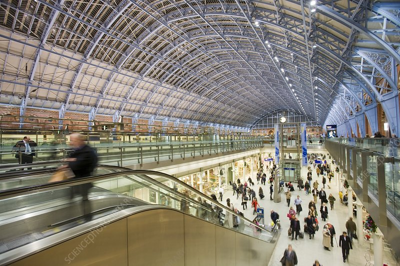 St Pancras Railway Station in London UK
