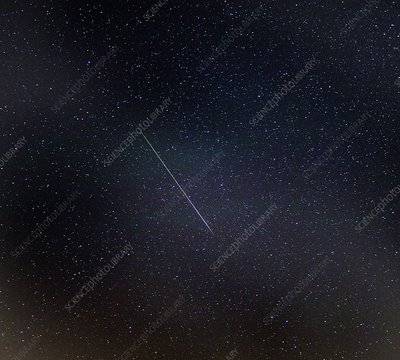 Perseid meteor trail