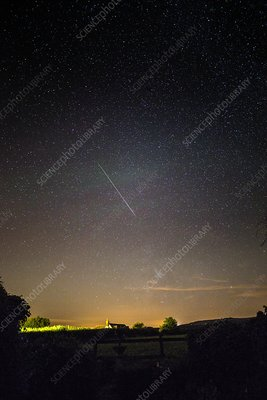 Perseid meteor trail 2015