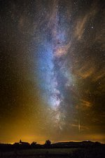 Milky Way and Perseid meteor trail