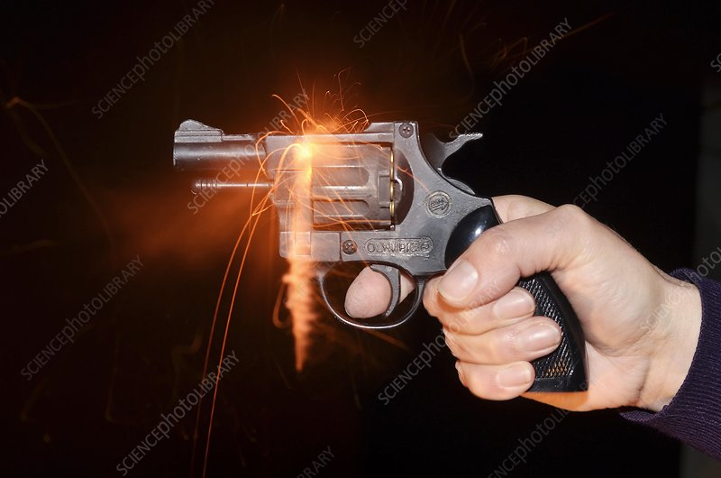 Blank-firing revolver - Stock Image - C026/0560 - Science