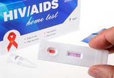 HIV home blood test, negative