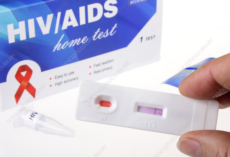 Hiv home test pictures to describe.
