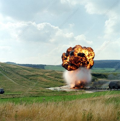 Fuel tank explosion test