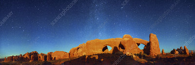 Night sky over Arches National Park