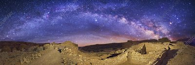 Milky Way over Chaco Canyon ruins