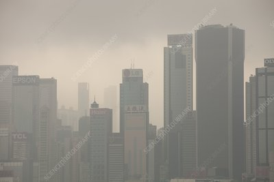 Hong Kong skyline and tower blocks