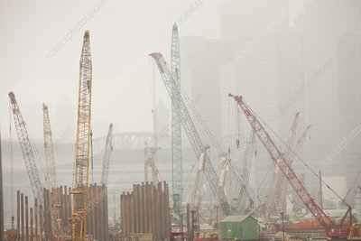 A construction site in Hong Kong