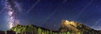 Milky Way over Mount Rushmore
