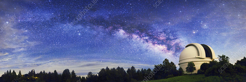 Milky Way over Palomar Observatory