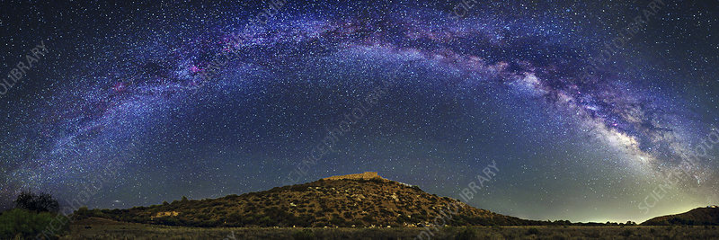 Milky Way over Tuzigoot ruins
