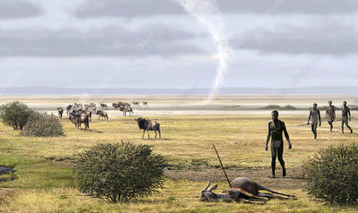 Early humans, illustration