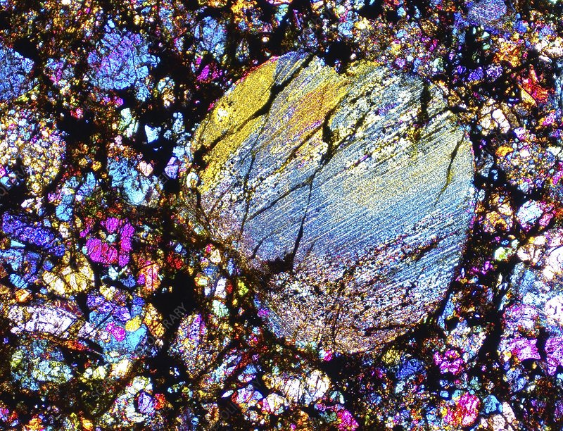 Meteorite SAU 001, light micrograph