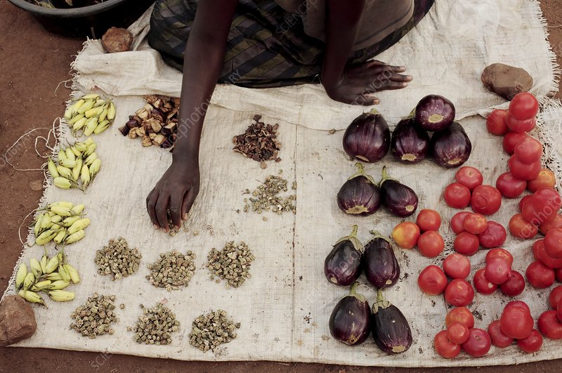 Vegetable stall, Ghana