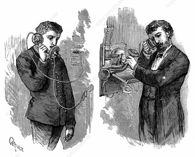 Early telephone users