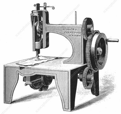 Isaac Singer's first sewing machine