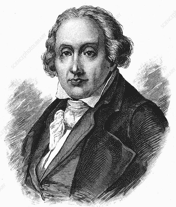 Joseph Marie Jacquard, French inventor - Stock Image - C026