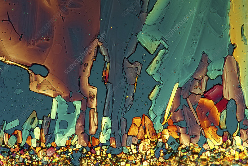 Copper thiosulphate, light micrograph