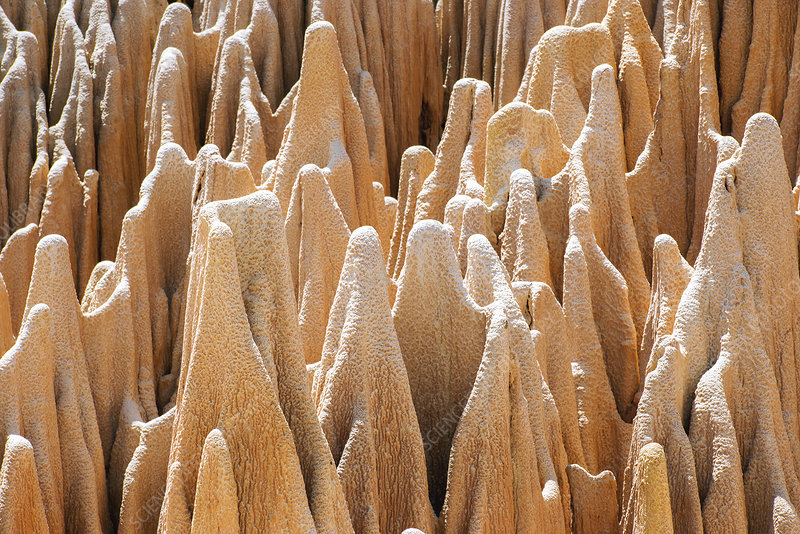 Red karst limestone pinnacles