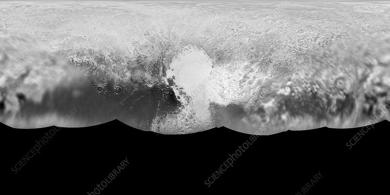Pluto, satellite image