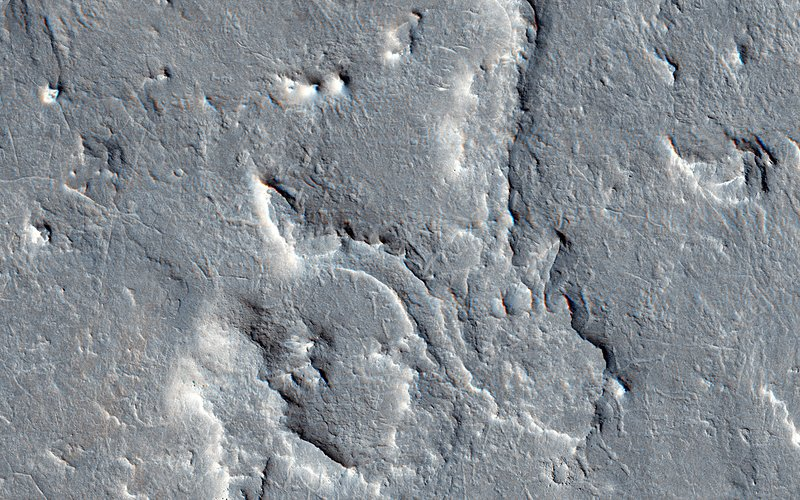 Martian rover landing site, MRO image